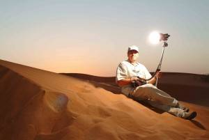 Filming in the desert UAE