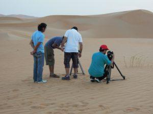 Filming in Liwa